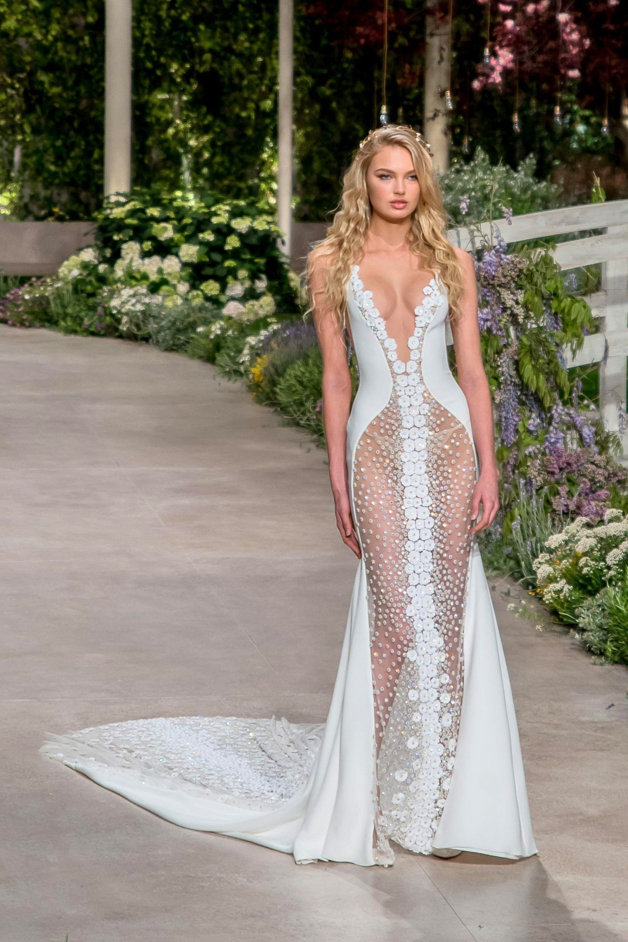 06c46b50619 Romee Strijd – Rehearsal for Atelier Pronovias 2019 Collection in Barcelona