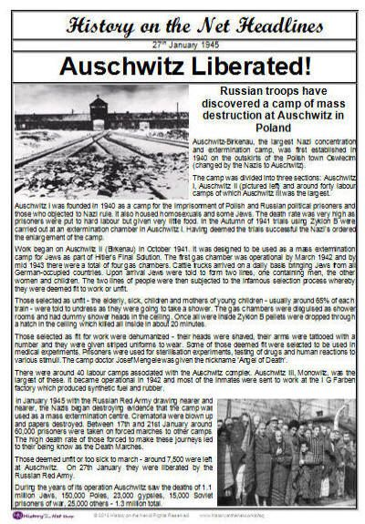 Auschwitz Newspaper Headlines - having visited Dachau when I was 8 - newspaper