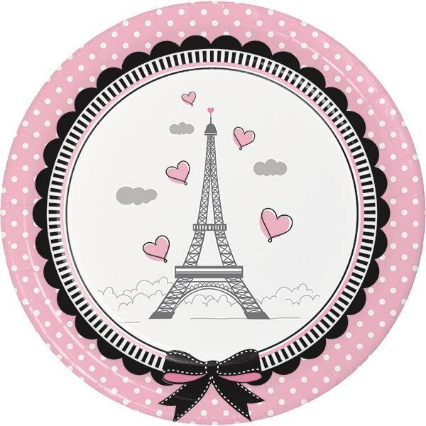 Paris Party Luncheon Plates Little Girl Dessert Plates Eiffel Tower Paper Plate Birthday Party Tableware (set ...  sc 1 st  Pinterest & Paris Party Luncheon Plates Little Girl Dessert Plates Eiffel ...