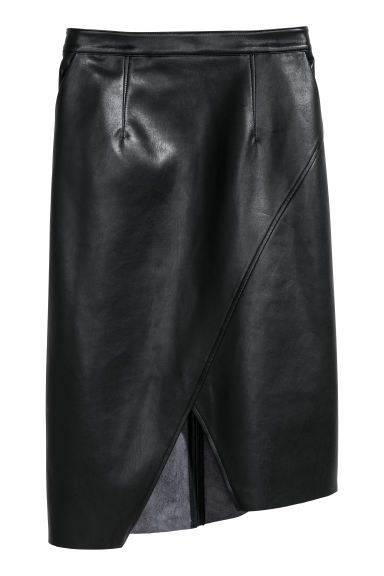 7c7abce3c4 Calf-length skirt - Black - Ladies   H&M   SEWING   Calf length ...