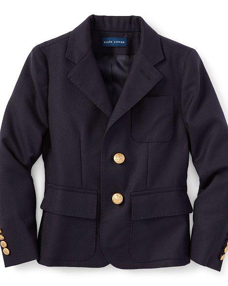 Wool Blazer - Girls 2-6X Jackets - RalphLauren.com