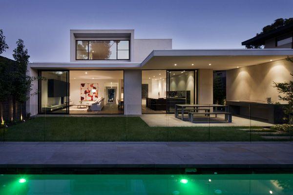 Plan maison contemporaine 161m2 5 pièces 4 chambres Garage ...