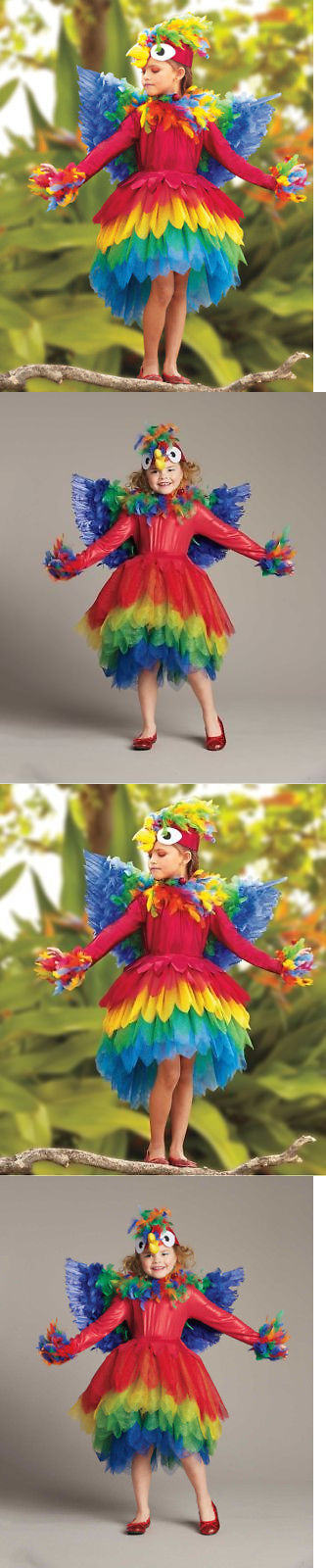 Girls 80914 Girls Size 8 Parrot Chasing Fireflies Costume Complete - party city store costumes