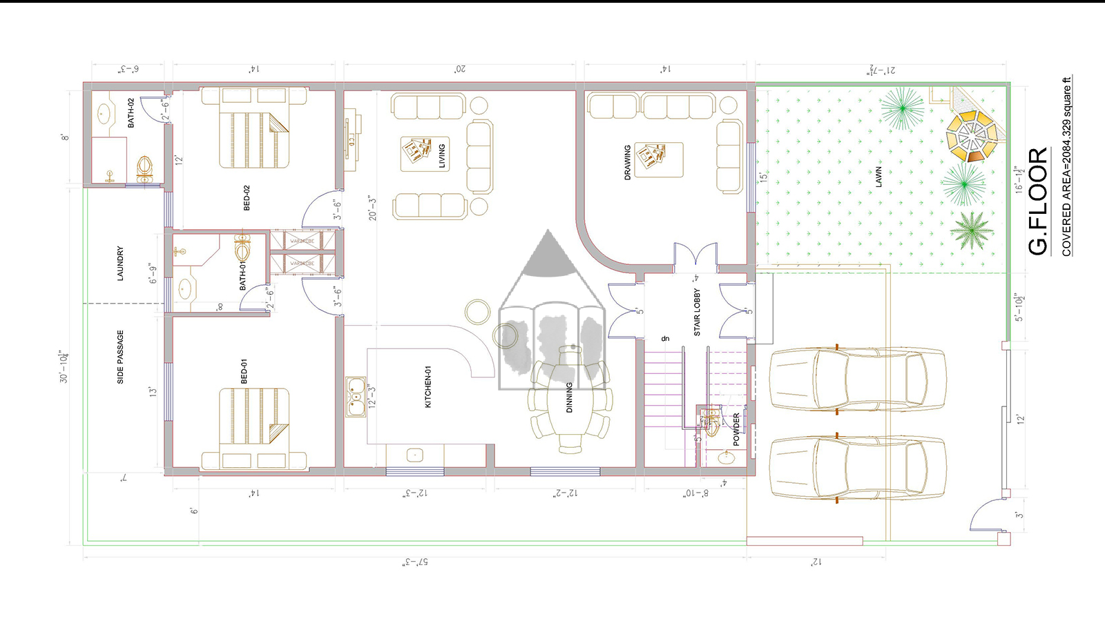 14 marla house plan for pakistani lifestyle with 40 feet front and 80 feet depth - House Plan Layouts