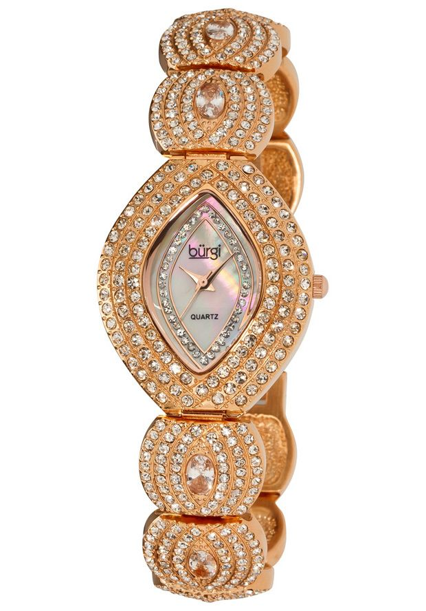 Price:$99.99 #watches Burgi BUR052RG, This exceptional Burgi ladies dazzling crystal, quartz watch is perfect for any occasion. The bezel, bracelet, and mother of pearl dial are adorned with sparkling crystals