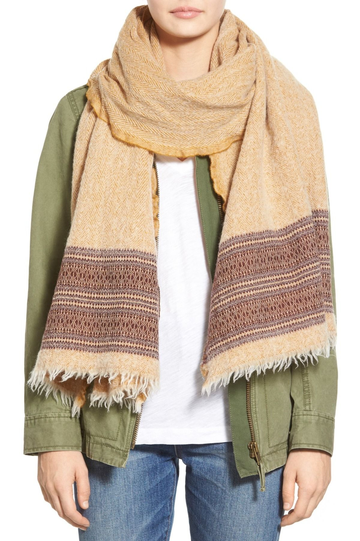 Madewell Boiled Wool Egyptian Gold Scarf