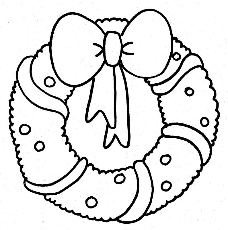 coloring pages christmas wreath