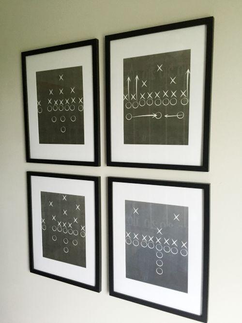 one room challenge: boy's football bedroom reveal | football