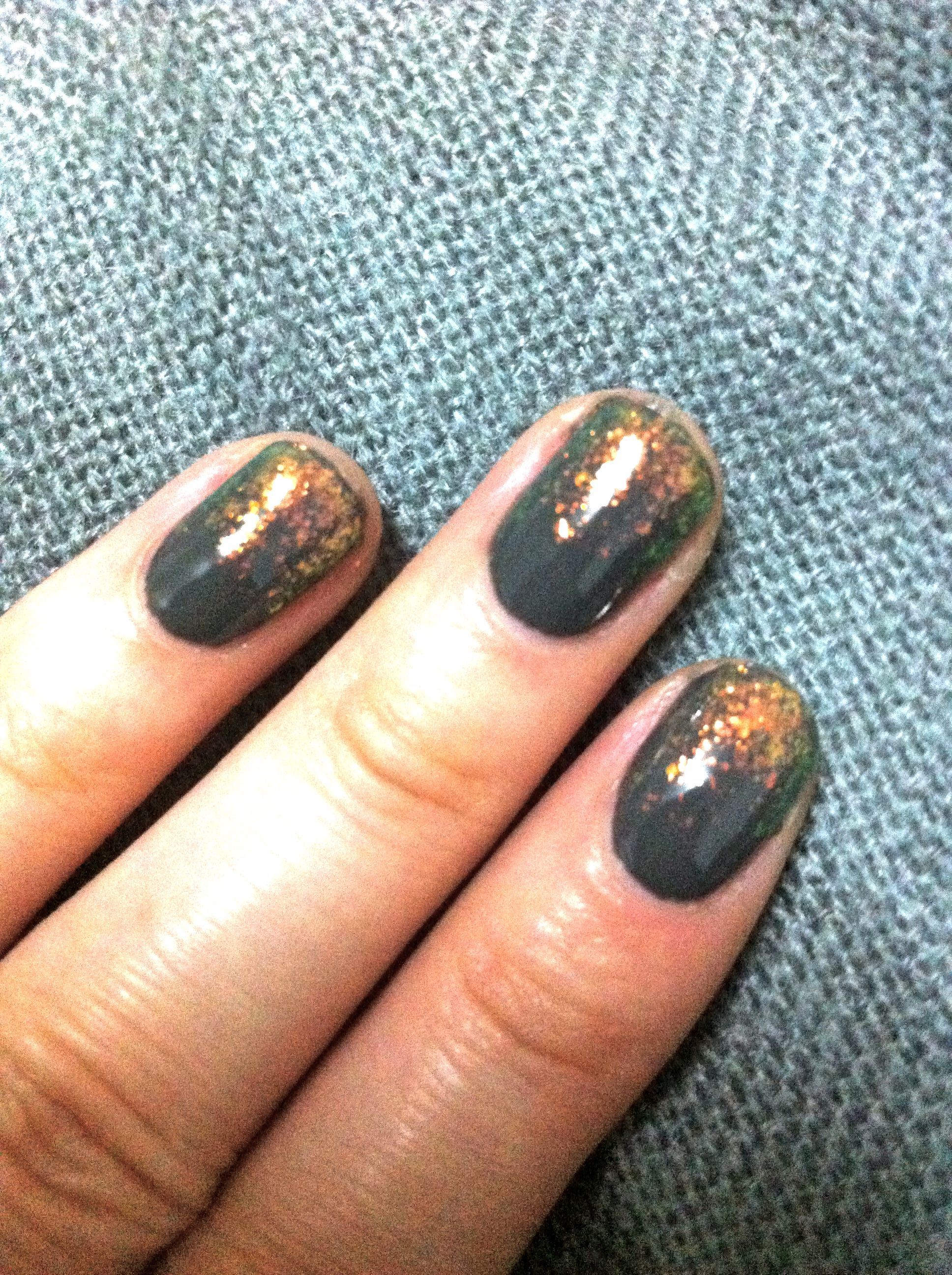new years eve luminous nail look with essie nail polish shine of the ...