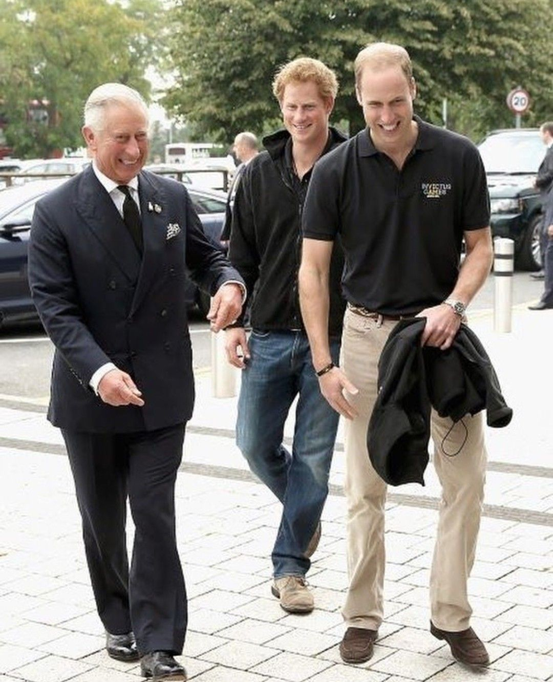 Prince Charles With His Sons Princes William & Harry