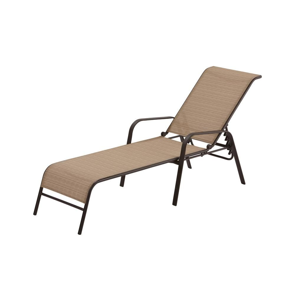 Hampton Bay Mix and Match Sling Outdoor Chaise Lounge | Chaise ...
