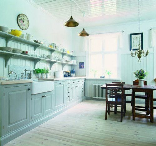 Maybe this is the way my paneling should go in the kitchen ...