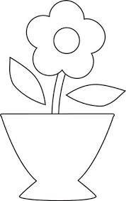 Resultado de imagem para molde patch aplique jarro de flores