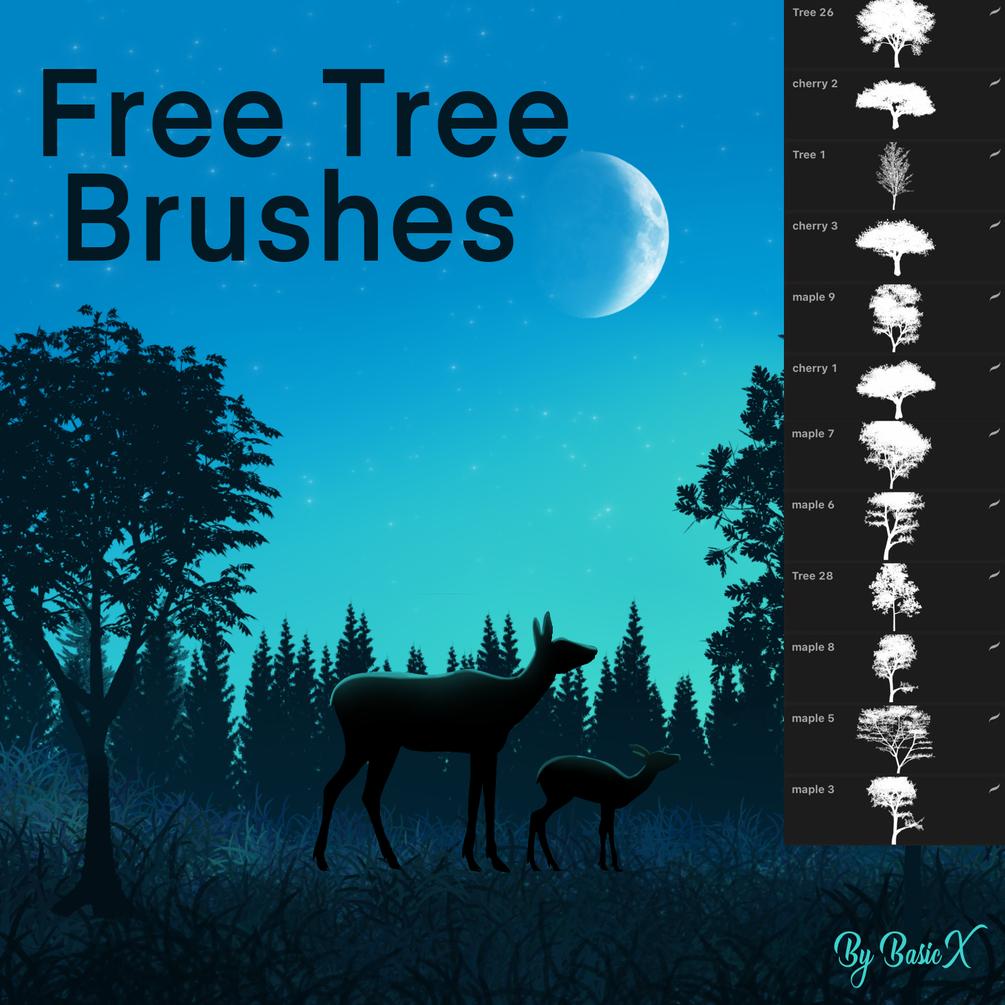 Free Tree Brush Pack In 2020 Free Procreate Free Brush Procreate Brushes Free