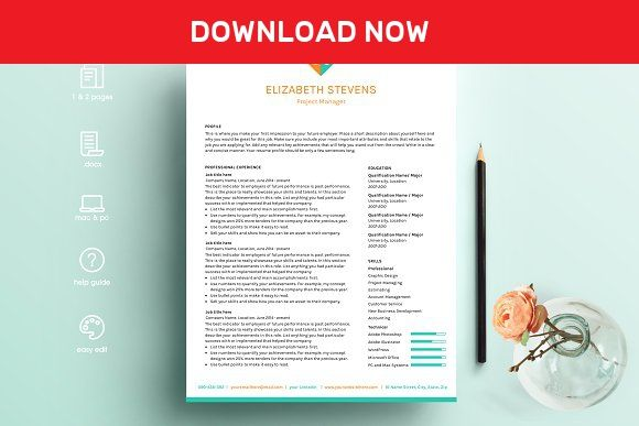 resume template ms word by pinkjellyfish on  mywpthemes