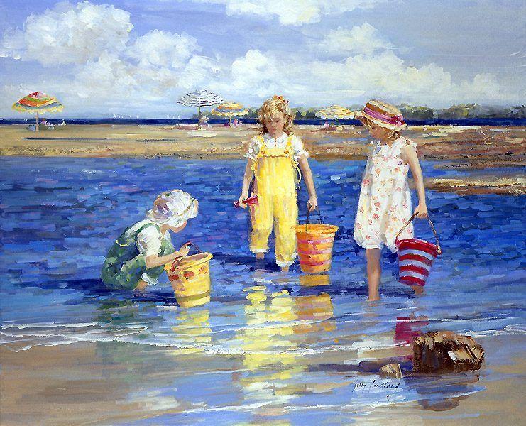 Bambini Dipinti ~ Il mondo di mary antony: i bambini sulla spiaggia di sally