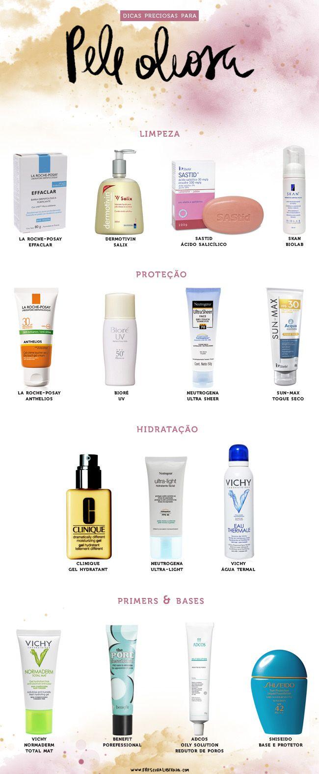 15 Produtos Para Quem Tem Pele Oleosa Pele Oleosa Produtos Para