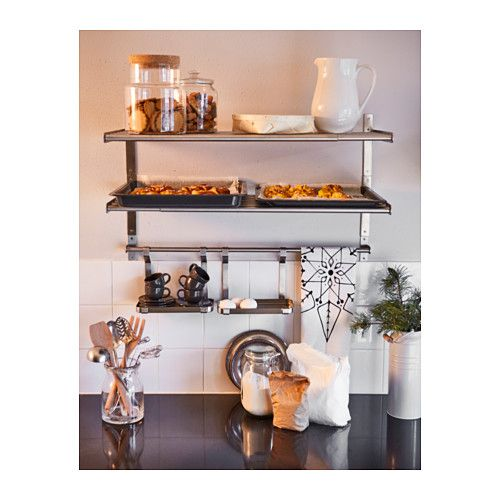 Grundtal Wall Shelf Stainless Steel Ikea Kitchen Ikea Ikea Home