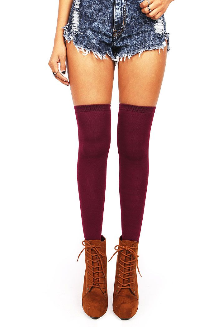Solid Thigh Highs | Socks at PinkIce.com