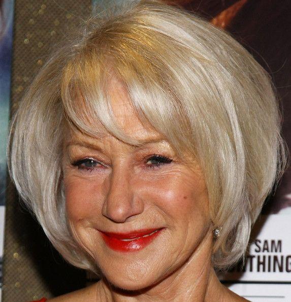 Helen Mirren Bob - Short Hairstyles Lookbook - StyleBistro