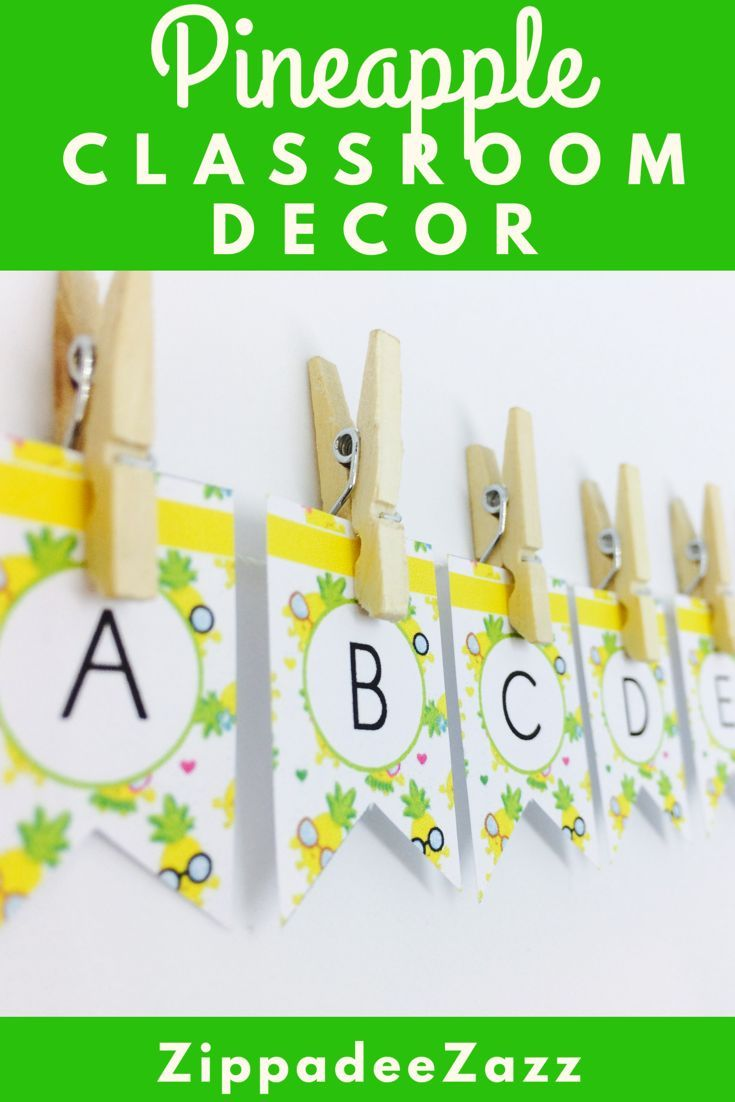 Pineapple Classroom Decor Pack EDITABLE   Primary classroom, Pre ...