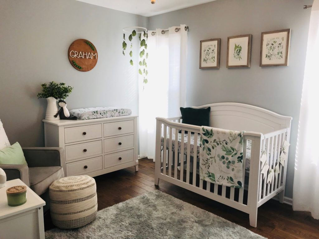 Glowing Greenery Baby Girl Nursery Room Baby Boy Room Nursery