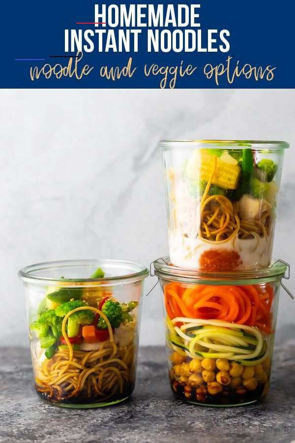 Homemade Instant Noodles These healthy homemade instant noodles recipes are made with whole wheat spaghetti, rotisserie chicken, and veggies, and taste just as good as ramen! Just add water for a delicious, hot lunch. #sweetpeasandsaffron #instantnoodles #healthy #worklunch #ramen #mealprep #wholewheat<br> These healthy homemade instant noodles are made with whole wheat spaghetti, rotisserie chicken, and veggies, and taste just as good as ramen! Just add water for a delicious, hot lunch.