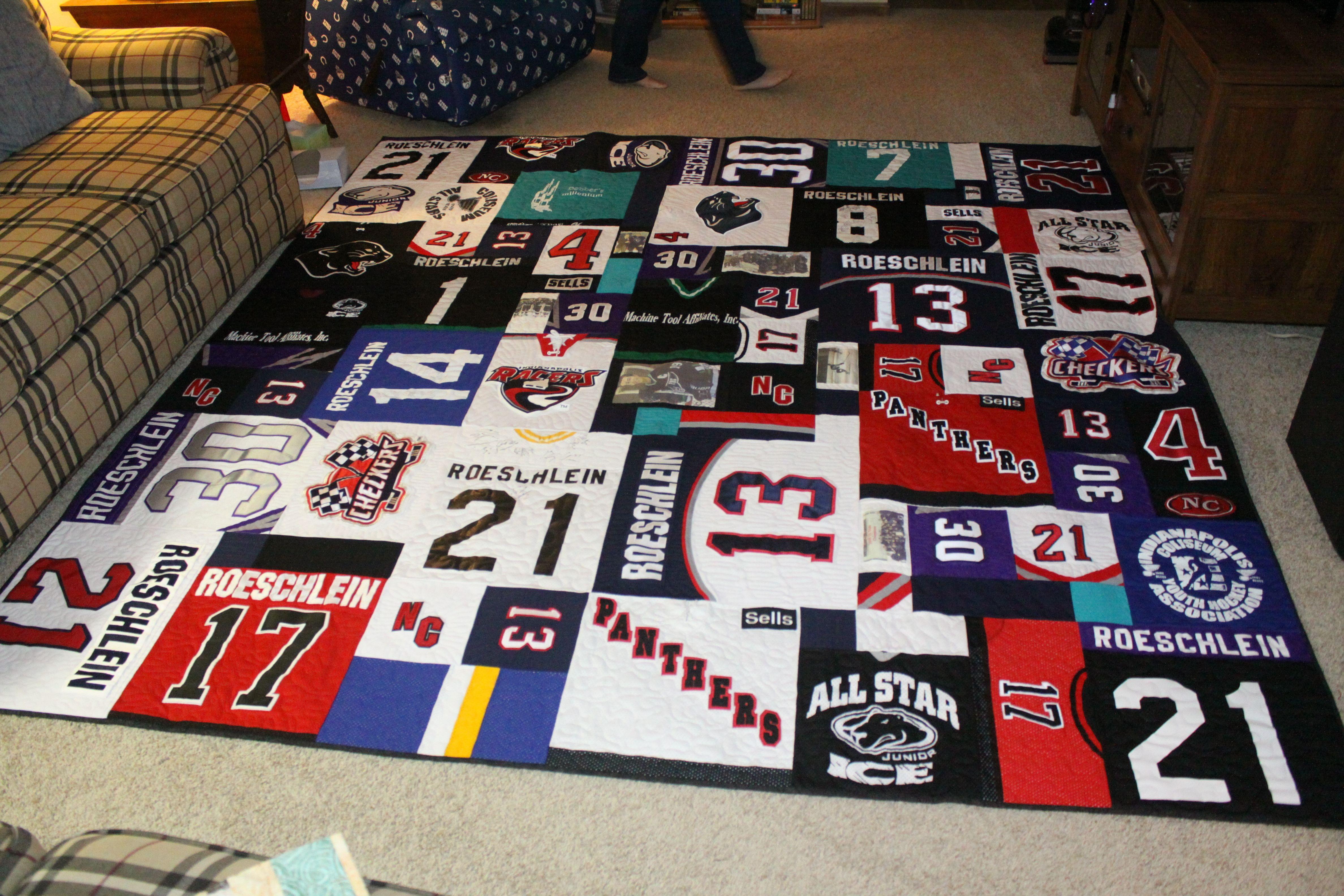 Hockey Jersey Quilt Jersey quilt, Hockey room, Hockey