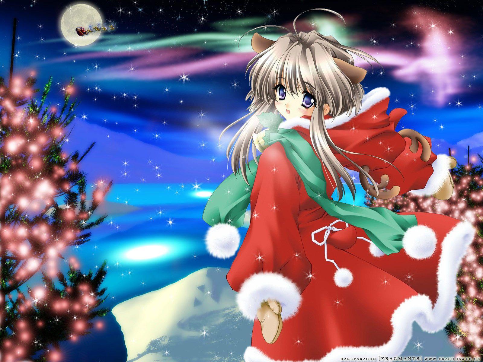 Christmas Anime Wallpaper Anime Christmas Anime Cute Christmas Wallpaper