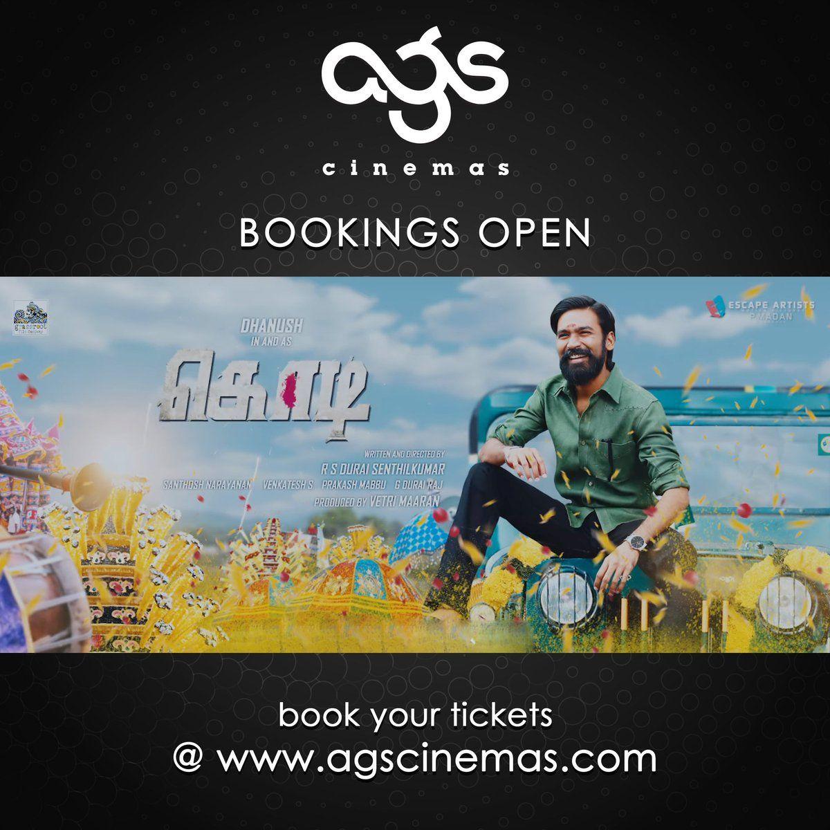 Kodi booking open dhanush trisha