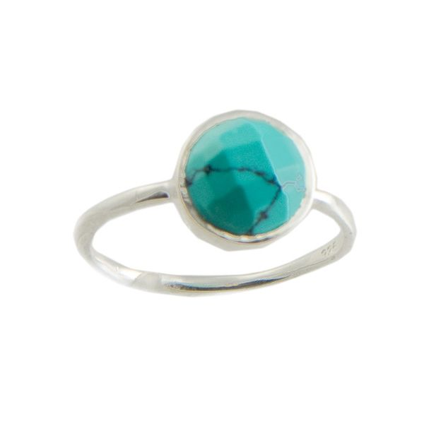 HandPicked: Round Turquoise Ring (size 7) [10081421] - $16.00