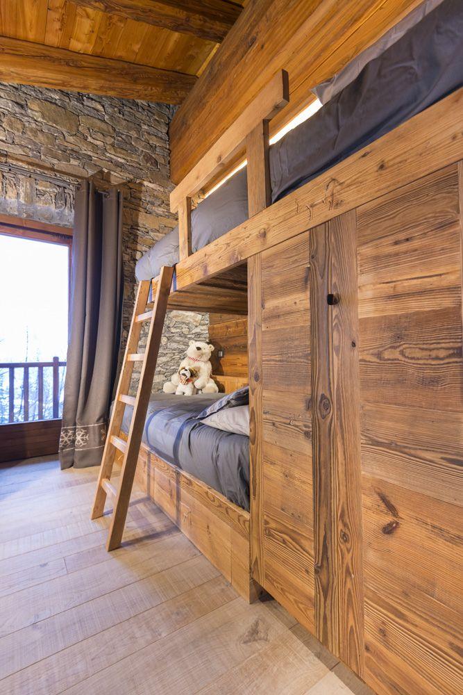 Cameretta letto a castello casa montagna pinterest case di montagna arredamento e case - Camere con letto a castello ...