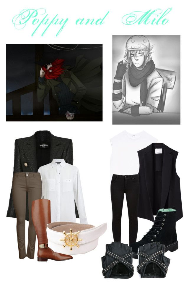 """""""Candle Cove: Poppy and Milo"""" by electrickittykat ❤ liked on Polyvore featuring Balmain, Vince, ONLY, Nine West, Helmut Lang, 3.1 Phillip Lim, T.U.K., poppy, milo and CandleCove"""
