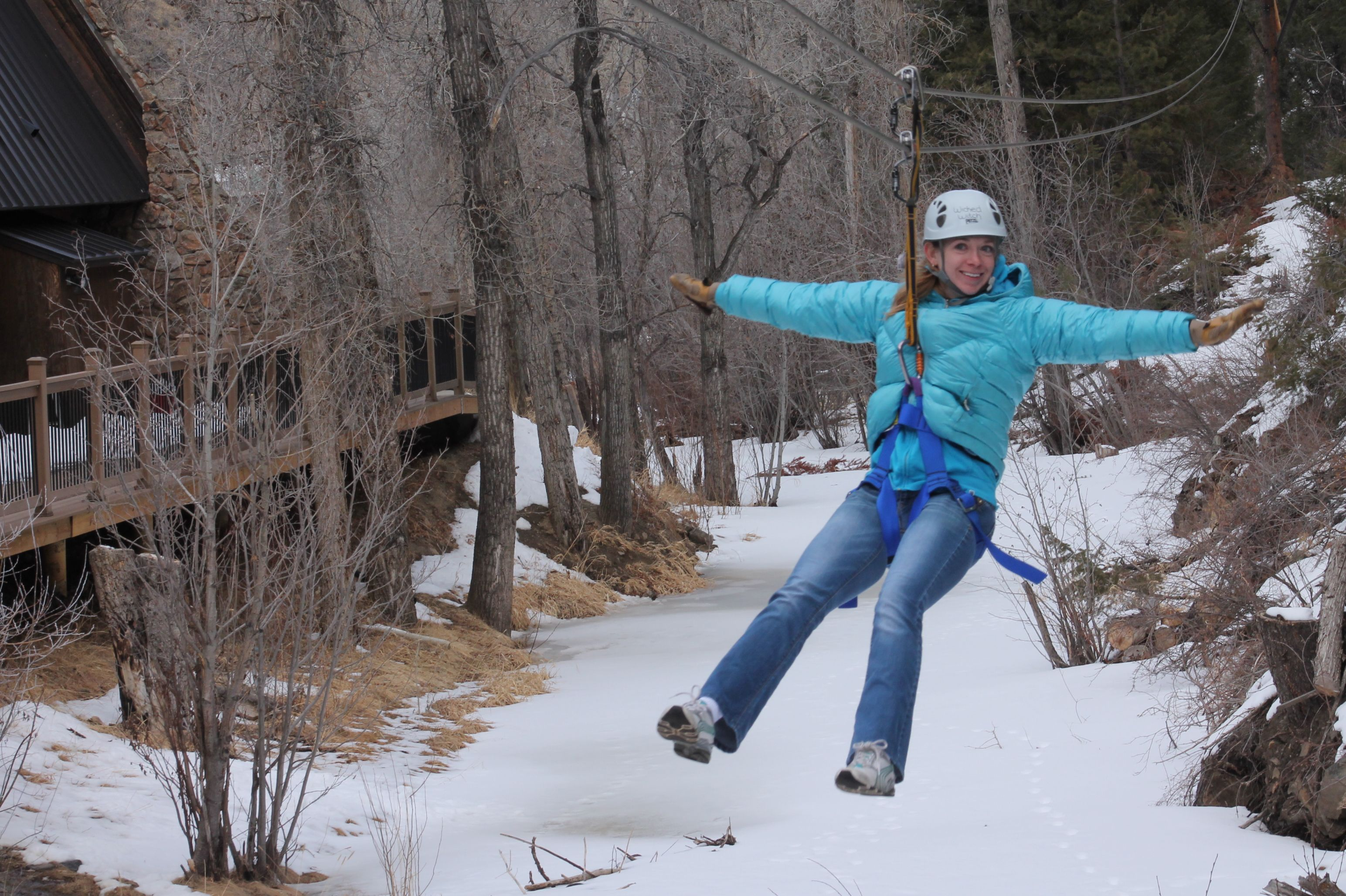 Winter Ziplining In Idaho Springs Co Idaho Springs Ziplining Winter