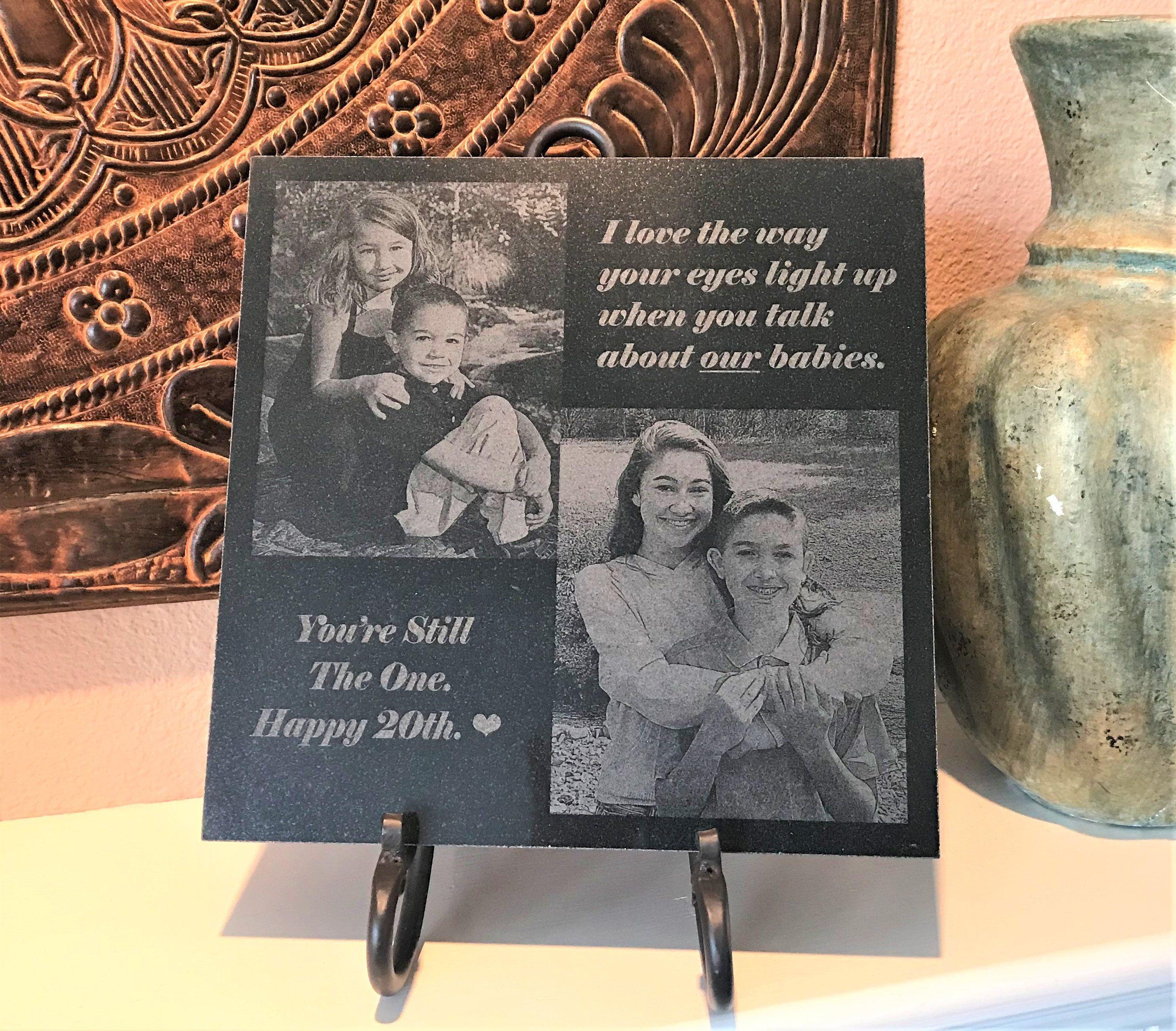 12x12 Custom Design Anniversary Gift Engraved Granite Laser Etsy Memorial Stones Absolute Black Granite Engraved Memorial Stone