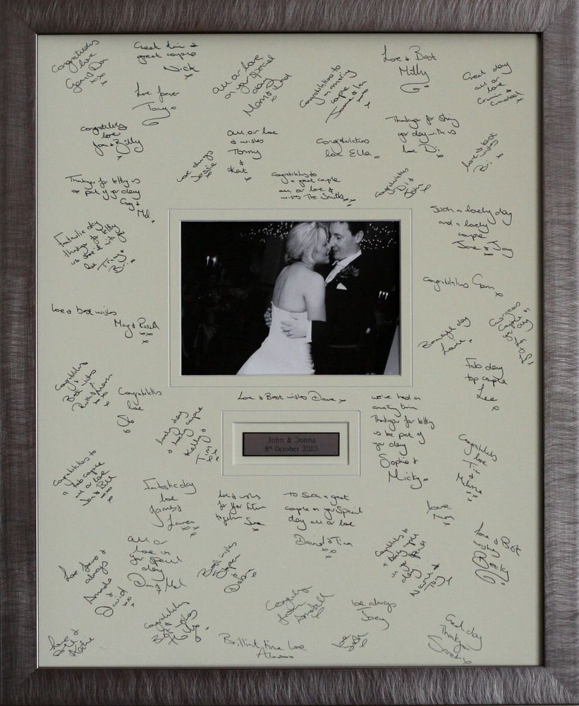 details about personalised guest signing frame aternative wedding guest book