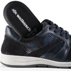 Walbusch Damen Sneaker-Schuh Blau einfarbig herausnehmbare Decksohle Walbusch