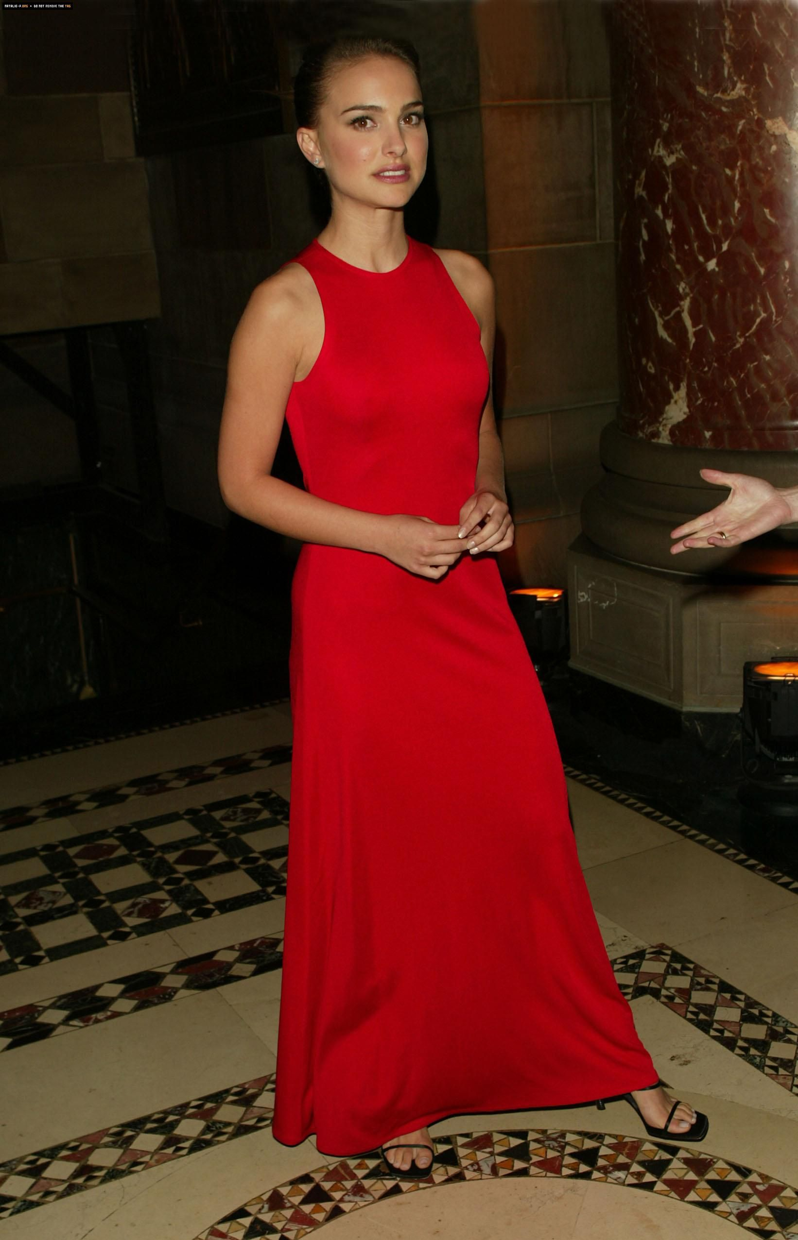 Portman in red celebrities ritzy royal red pinterest