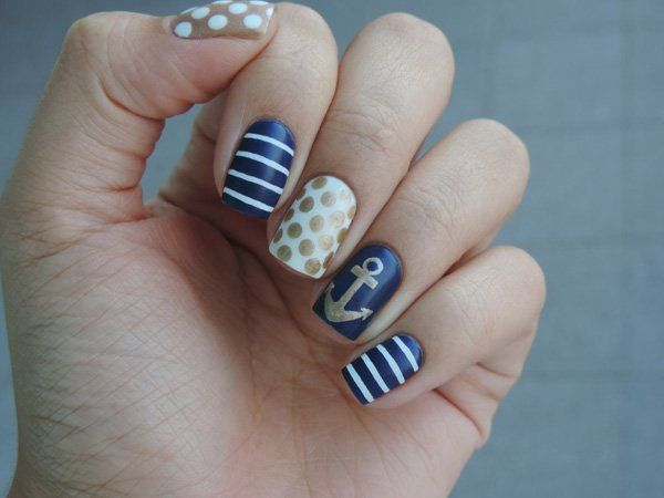 60 Cute Anchor Nail Designs Anchor Nail Designs Anchor Nails And