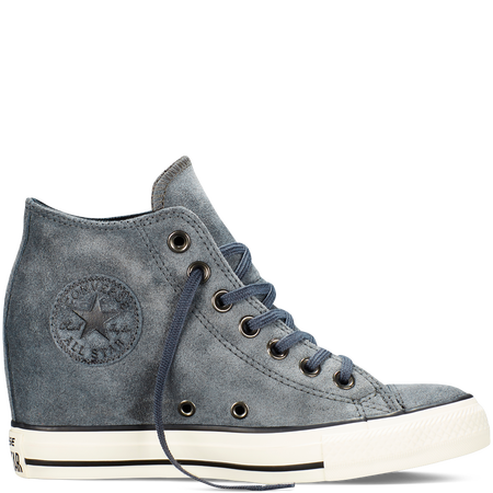 1182992c18eebc Converse - Chuck Taylor All Star Lux Wedge Suede - Charcoal - Mid ...