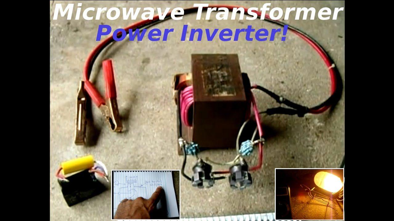 Microwave Oven Transformer(MOT) 12V to 120V Inverter | Reuse