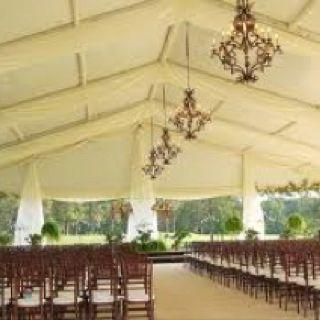 White tent wedding