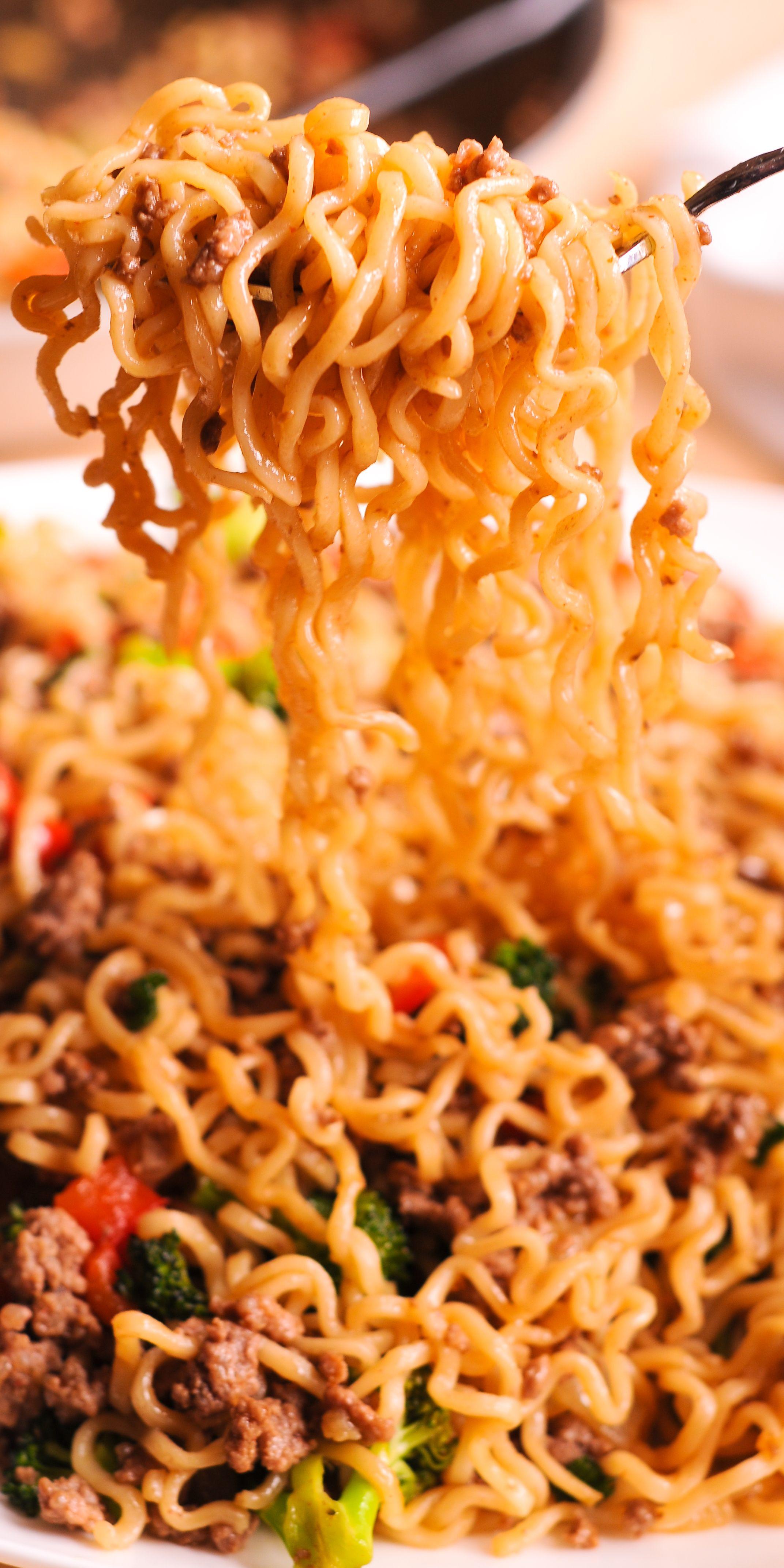 Beef Ramen Noodles Stir Fry