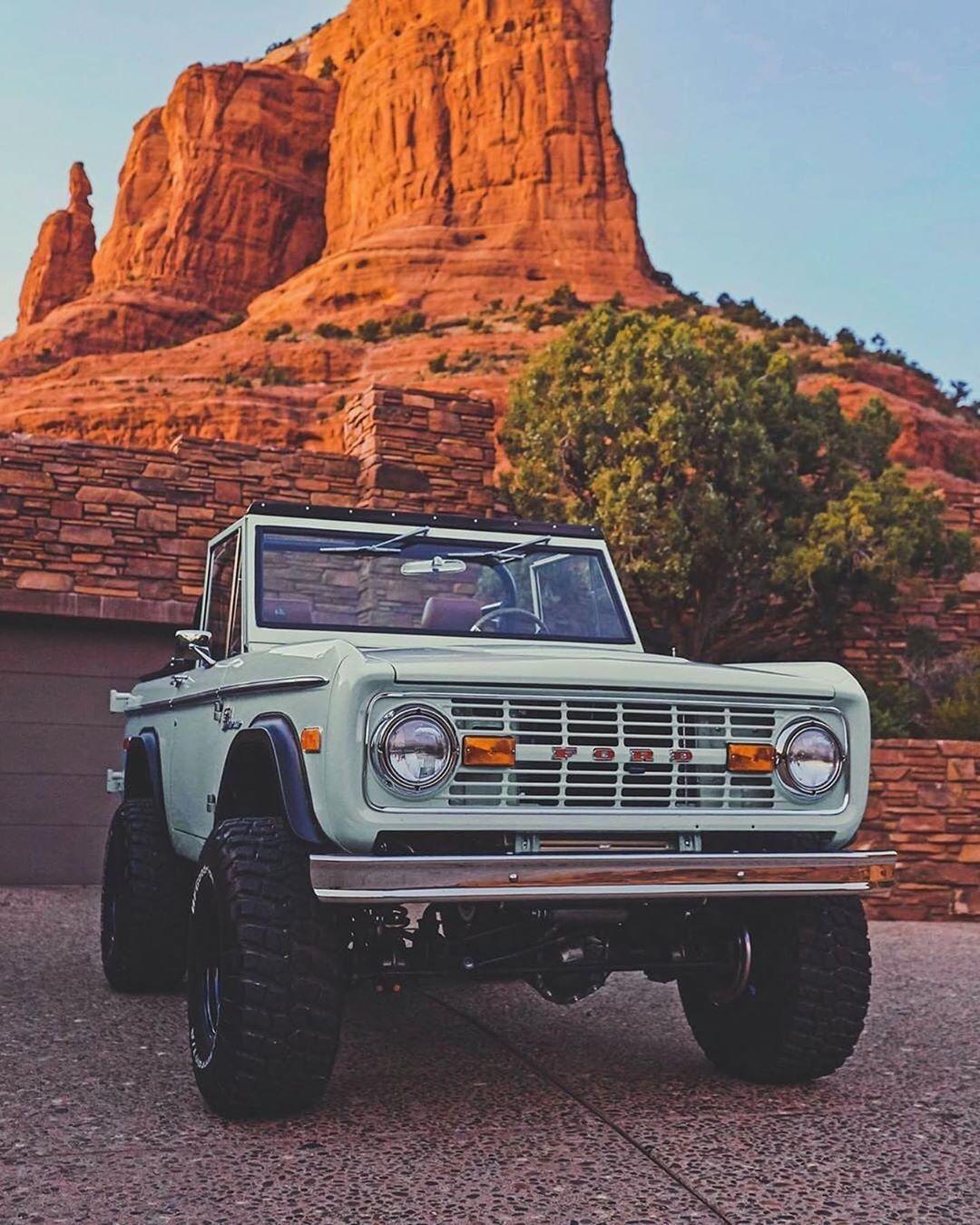 Mint Green Ford Bronco Trucks Redrock Utah Mtruck Utah