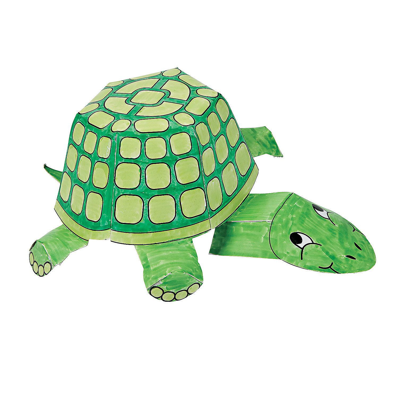 Color Your Own 3D Turtles - OrientalTrading.com | Oriental ... - photo#15
