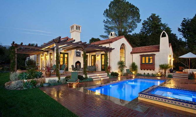 18 Genius Spanish Style Ranch House House Plans 82588 Hacienda Style Homes Spanish Style Homes Mediterranean Style Homes
