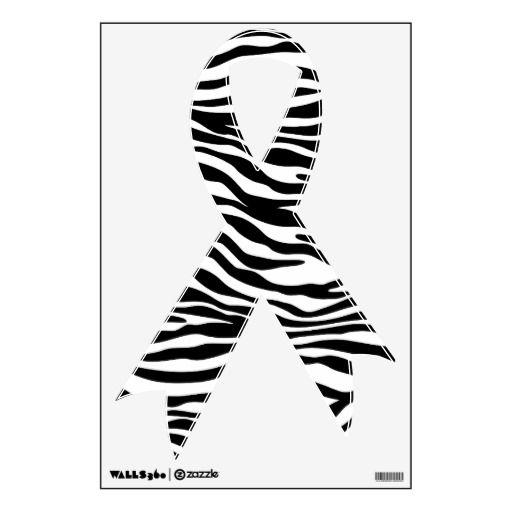 Black and White Zebra Stripe Ribbon Wall Decals   Ribbon wall