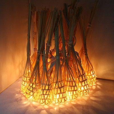 Aladin 20 Bamboo Baskets String Lights Fairy New Home Patio Lighting Decor Us