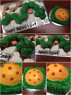 My first pull apart cake My first theme cake Dragon Ball Z Cake