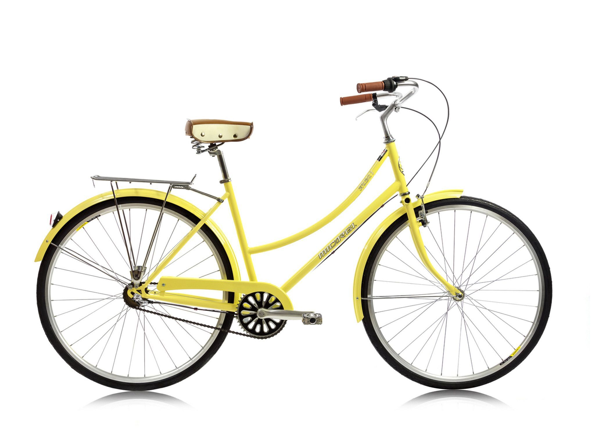 Micargi Kuba Nx3 Shimano 3 Speed City Commuter Bike Yellow
